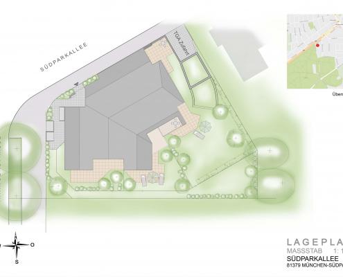 Südparkallee - Lageplan